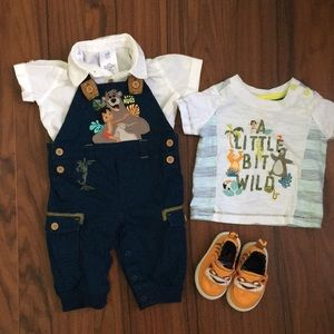 🐯 🦍 🐵 EUC Jungle Book Baby Boy's Outfit Set